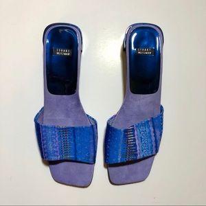 Vintage Stuart Weitzman Embroidered Heeled Sandals